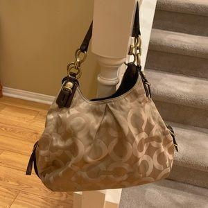 Coach Medium three pocket zipper closure purse